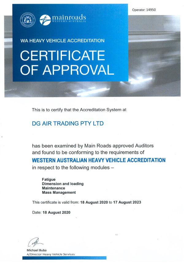 WA Heavy Vehicle Accreditation